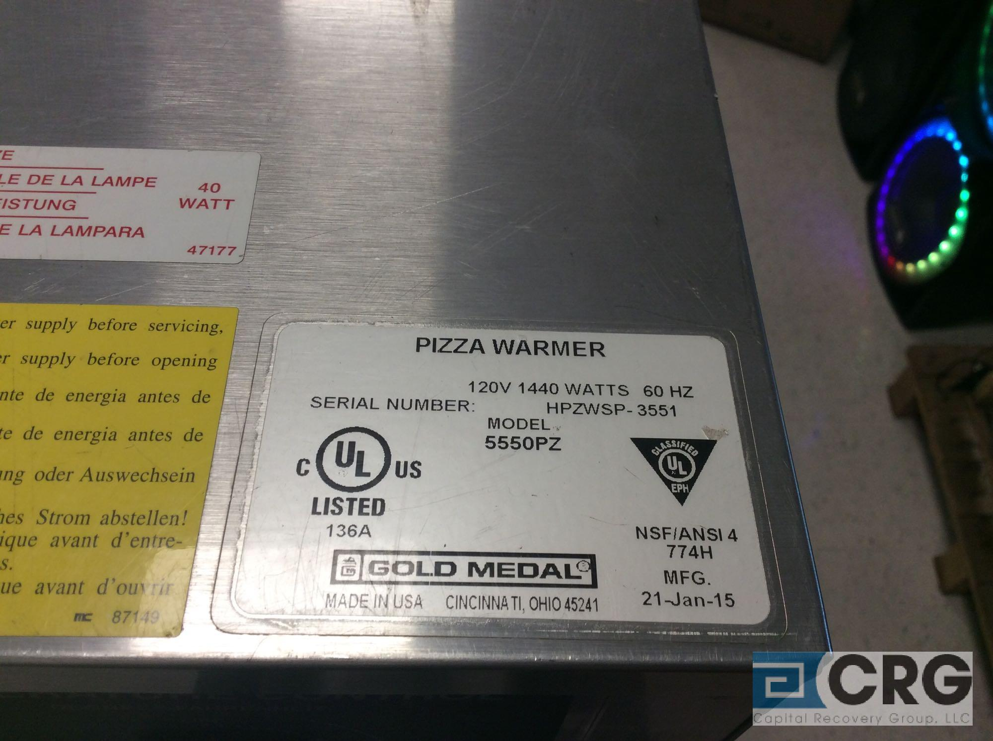 Gold Medal 5550PZ rotary pizza warmer - Image 2 of 2
