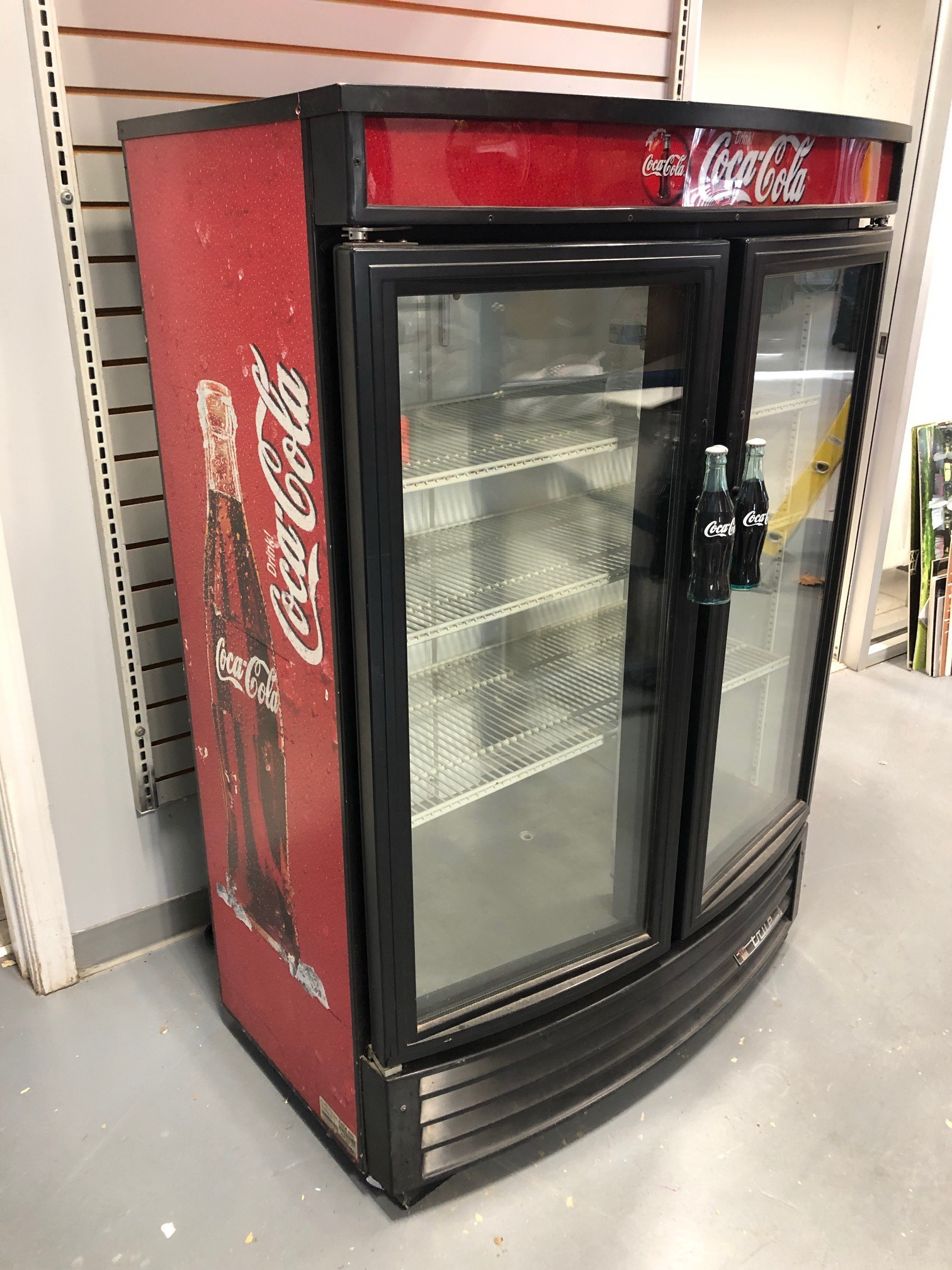 """""""True"""" 4 ft. two door coke cooler"""