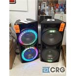 Lot of (2) Edison Professional M-7000 powered speakers