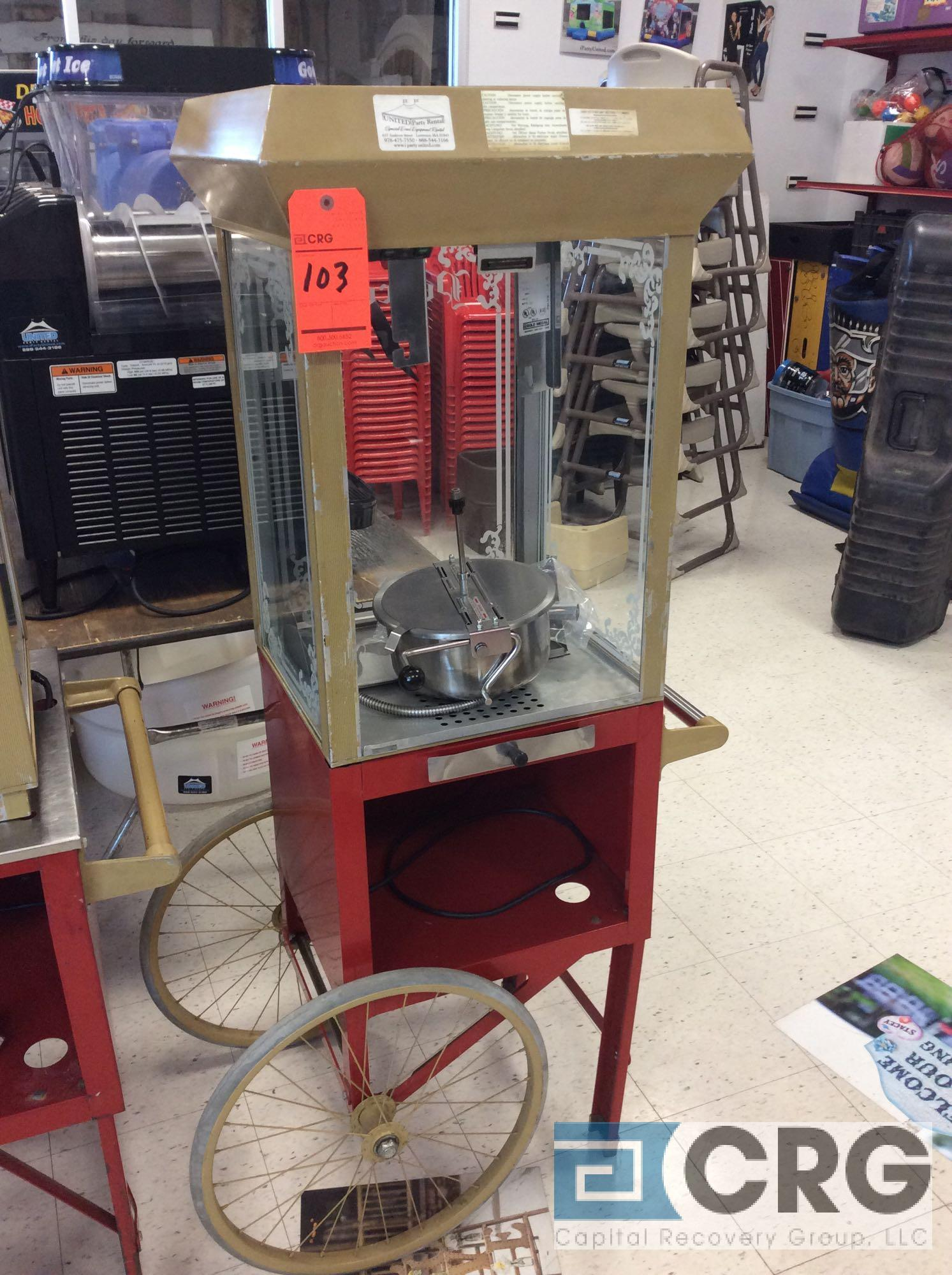 18 inch portable popcorn cart