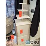 4 tier serving station with (2) plastic cube tables