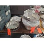 Lot of ass't stainless steel serving platters
