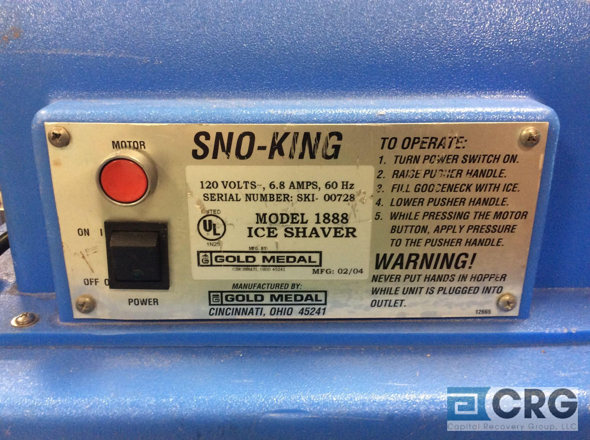 Gold Medal SNO-KING 1888 ice shaver, 1 phase - Image 2 of 2
