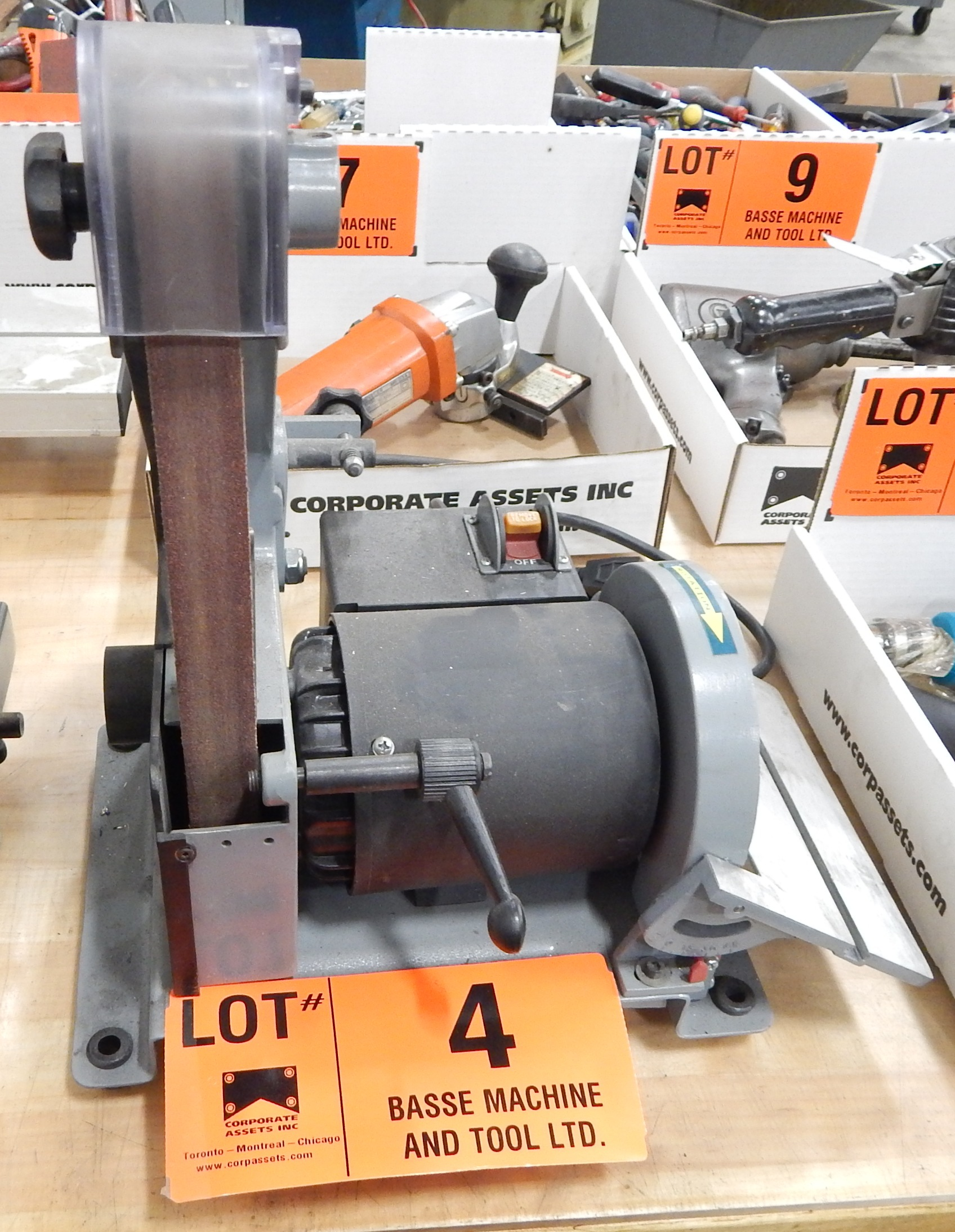 "Lot 4 - KING 1"" VERTICAL BELT SANDER"