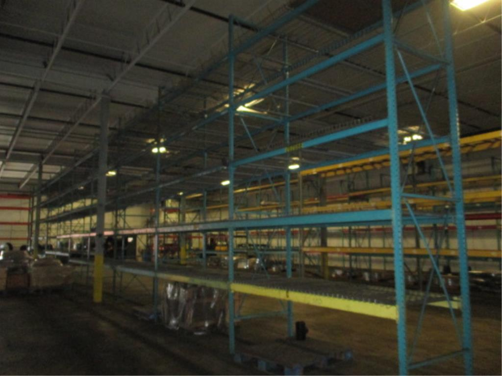 Lot 152 - Lot: (5 Tier, 10 sections) Warehouse Pallet Racking, Redirack Style. Consisting of: (12) Upright