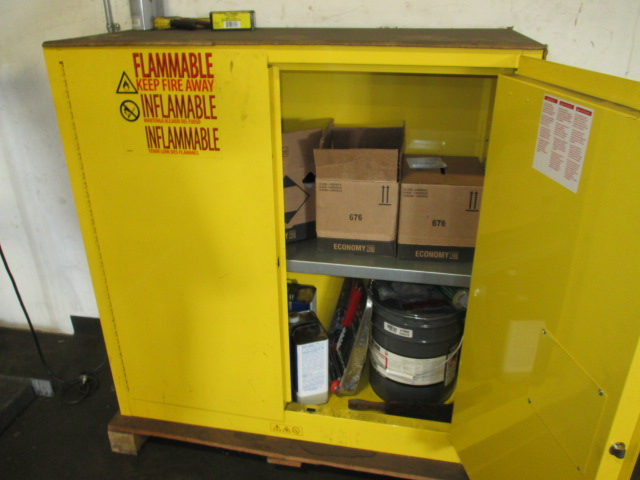 Lot 127 - Uline H-1563M-Y Flammable Materials Storage Cabinet. HIT# 2188121. Building 1. Asset(s) Located at