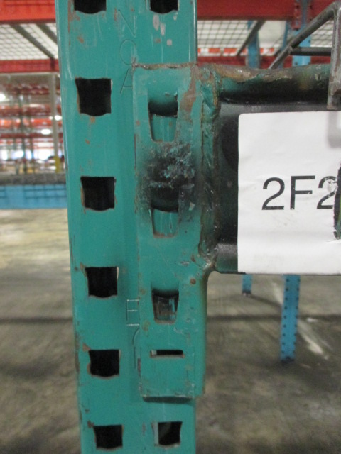 Lot 156 - Lot: (3 Tier, 9 sections) Warehouse Pallet Racking, Keystone Style. Consisting of: (10) Upright