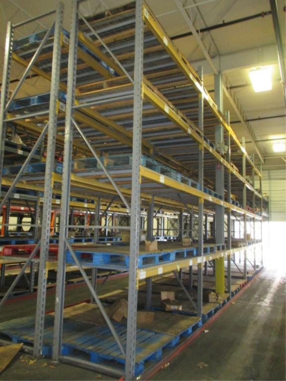 Lot 140 - Lot: (4 Tier, 12 sections) Warehouse Pallet Racking, Slotted Angle Style. Consisting of: (12)