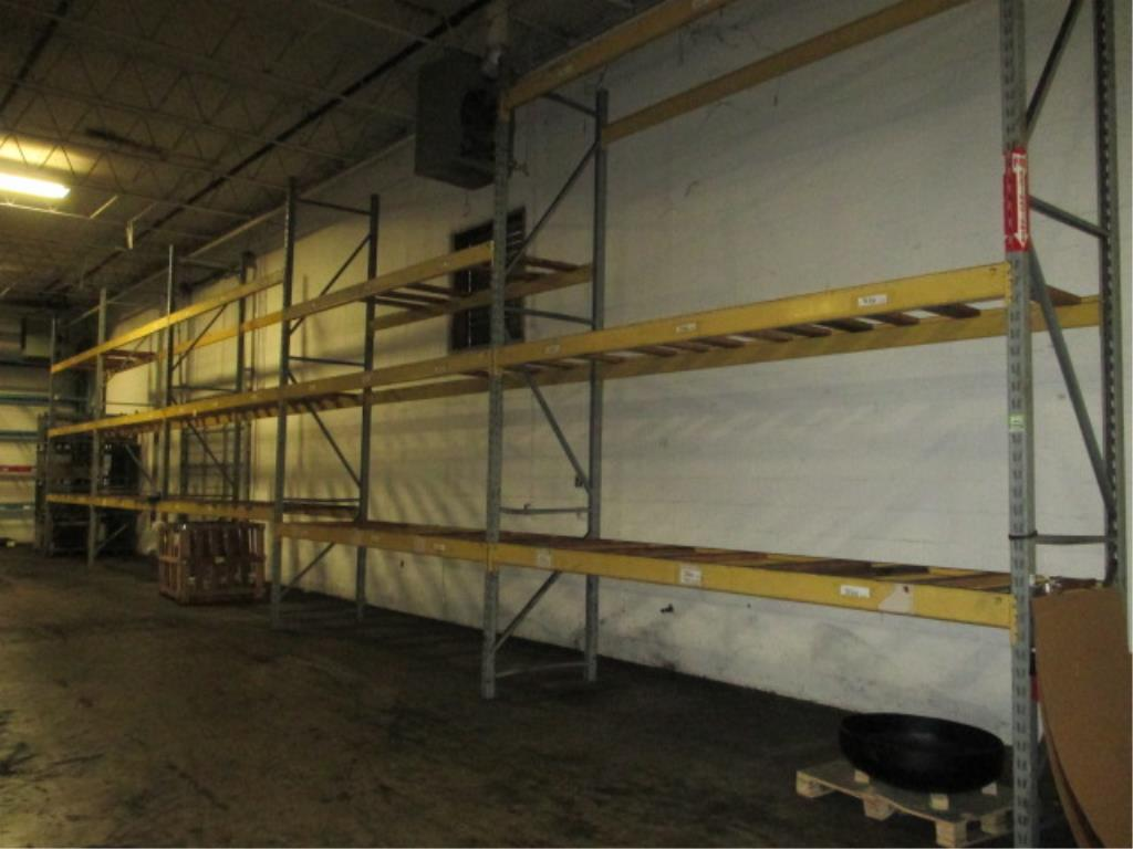Lot 154 - Lot: (3 Tier, 5 sections) Warehouse Pallet Racking, Slotted Angle Style. Consisting of: (6) Upright
