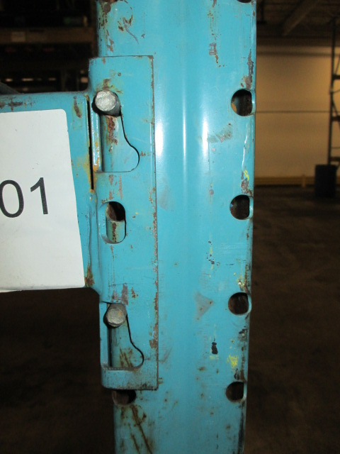 Lot 148 - Lot: (5 Tier, 11 sections) Warehouse Pallet Racking, Redirack Style. Consisting of: (12) Upright