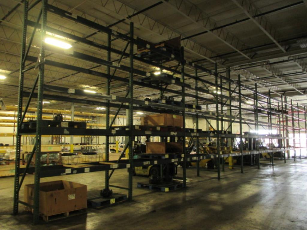 Lot 150 - Lot: (5 Tier, 11 sections) Warehouse Pallet Racking, Teardrop Style. Consisting of: (11) Upright