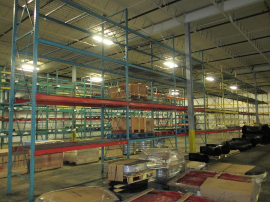 Lot 153 - Lot: (4 Tier, 9 sections) Warehouse Pallet Racking, Redirack Style. Consisting of: (10) Upright