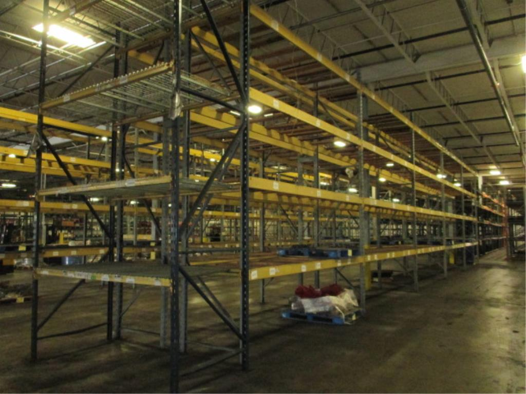 Lot 143 - Lot: (4 Tier, 11 sections) Warehouse Pallet Racking, Slotted Angle and (1 section) T-Bolt Style.