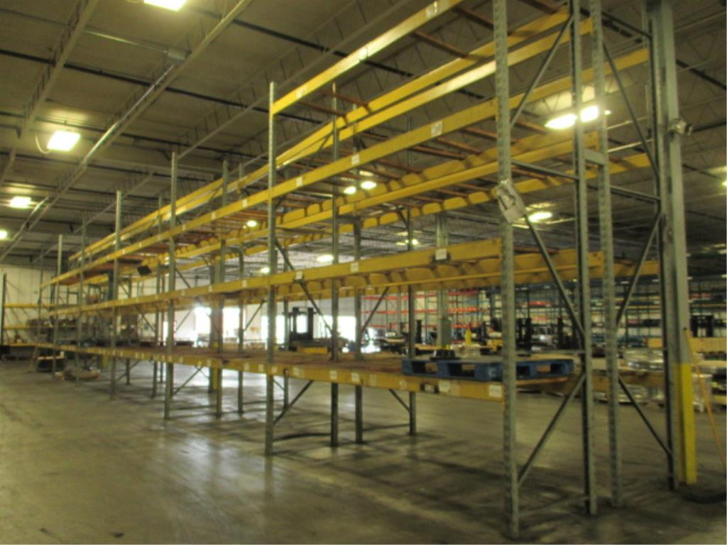 Lot 145 - Lot: (4 Tier, 11 sections) Warehouse Pallet Racking, Slotted Angle Style. Consisting of: (14)