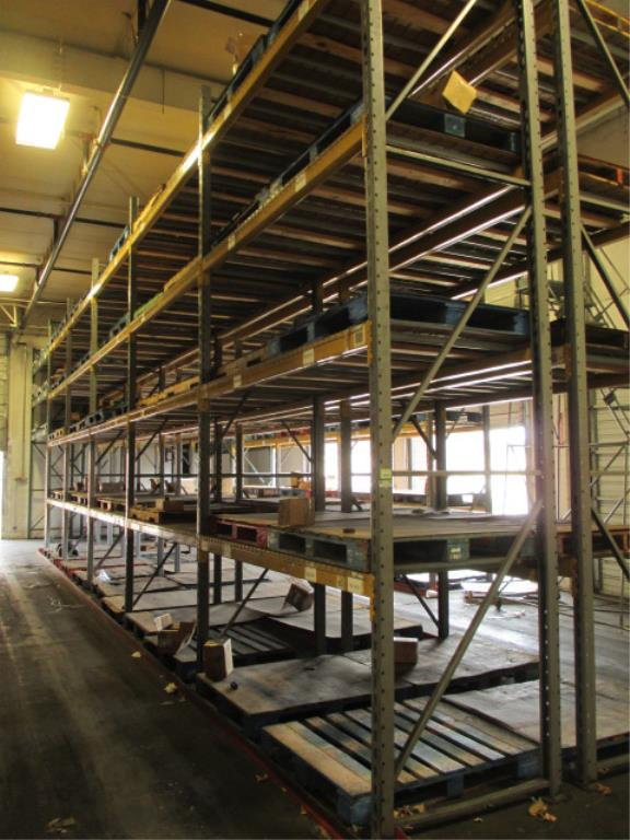 Lot 139 - Lot: (4 Tier, 16 sections) Warehouse Pallet Racking, Slotted Angle Style. Consisting of: (10)