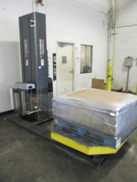 Lot 114 - Wulftec / M.J. Maillis WSMH-200-B Semi-Automatic Turntable Stretch Wrapper. 120V, 60Hz, 15A. S/N-