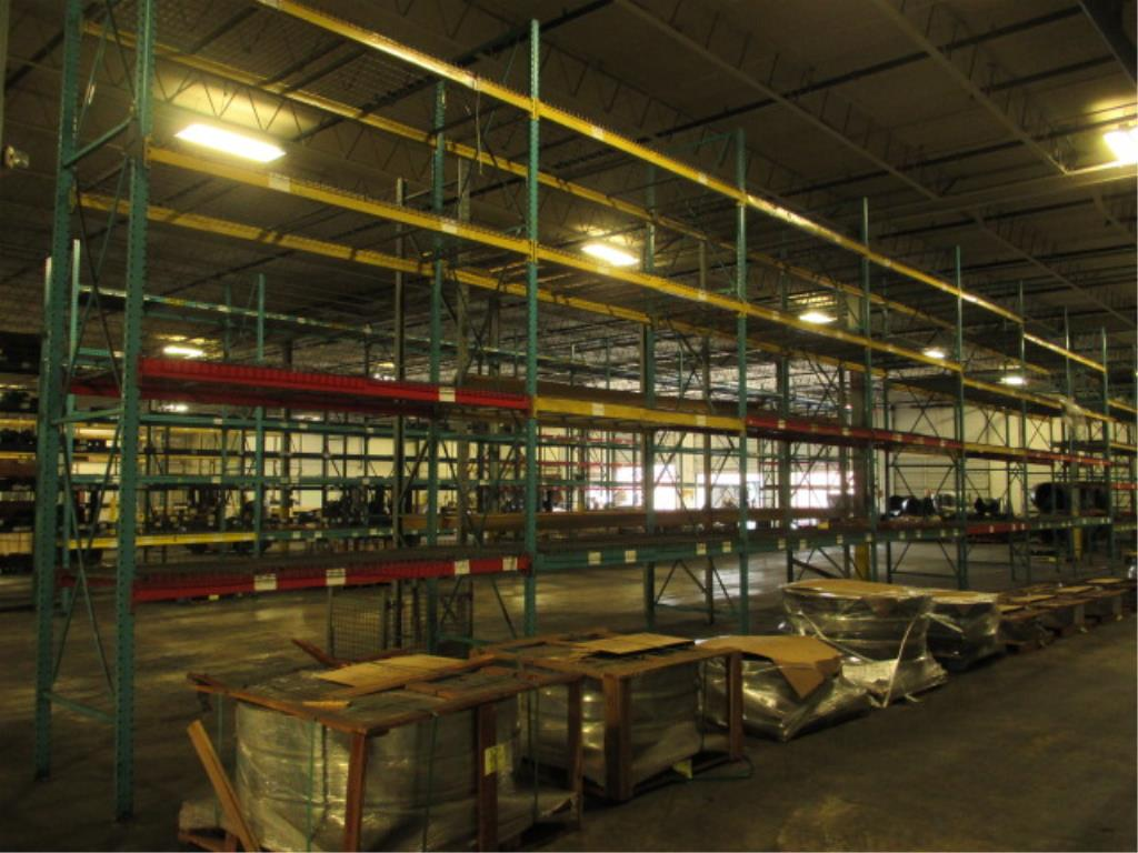 Lot 157 - Lot: (4 Tier, 11 sections) Warehouse Pallet Racking, Redirack Style. Consisting of: (11) Upright