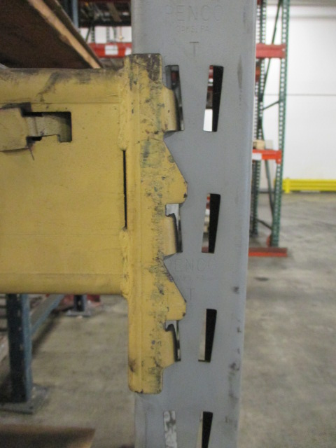Lot 147 - Lot: (4 Tier, 9 sections) Warehouse Pallet Racking, Slotted Angle Style. Consisting of: (1) Upright