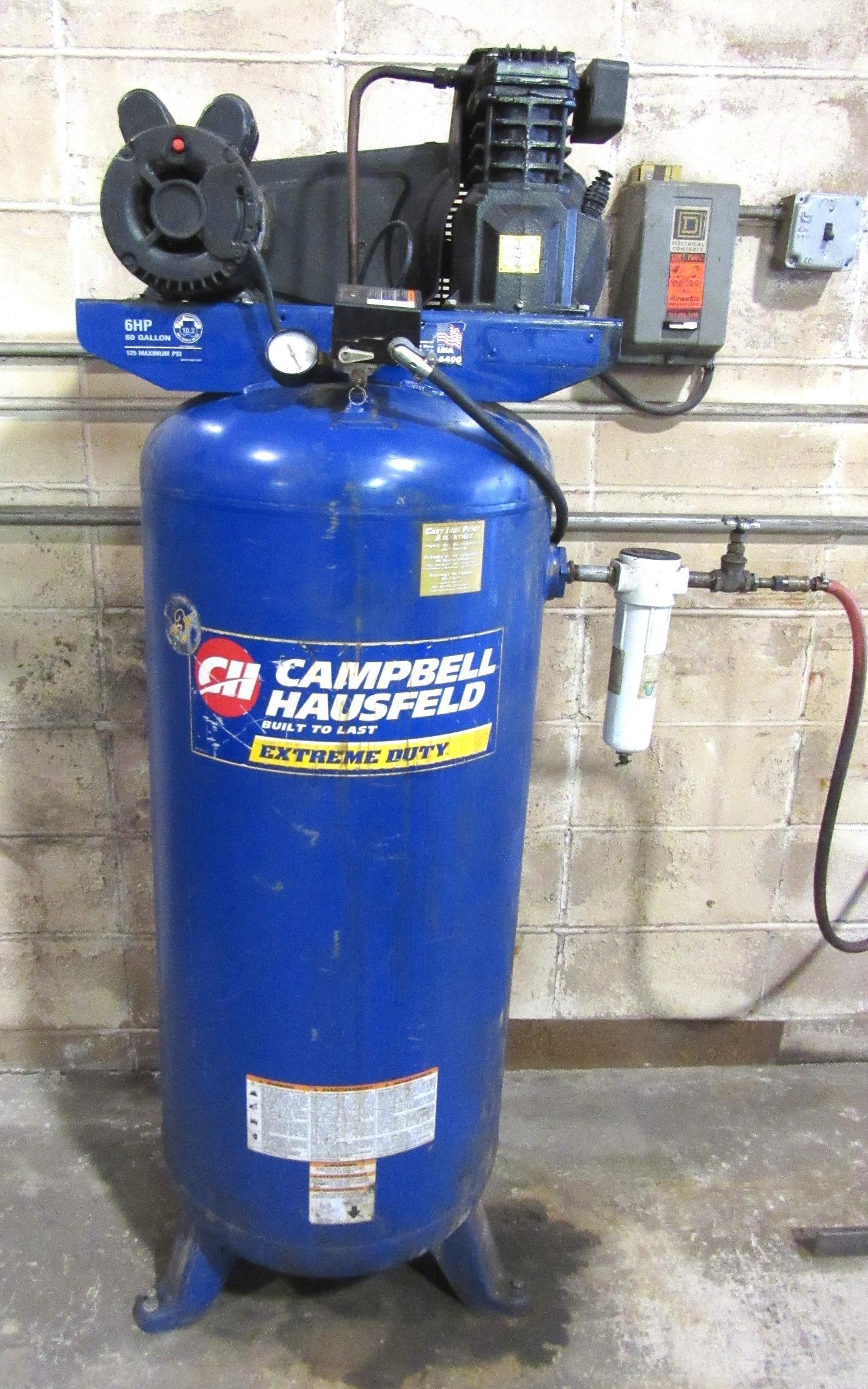 Campbell Hausfeld Air Tank : Campbell hausfeld hp vertical air compressor w