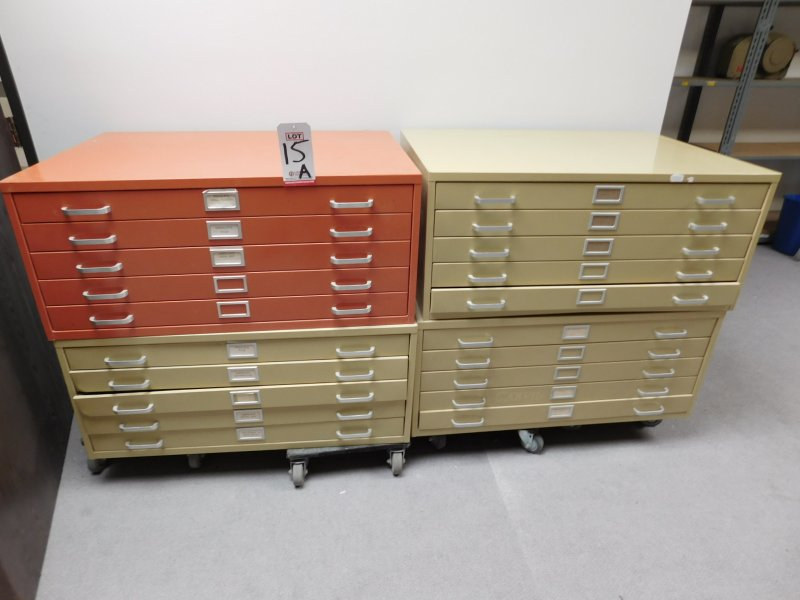 LOT OF (4) 5-DRAWER BLUEPRINT CABINETS