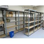 """LOT - 31' OF ADJUSTABLE SHELVING: (4) 4' X 18"""" X 7' AND (5) 3' X 18"""" X 7'"""