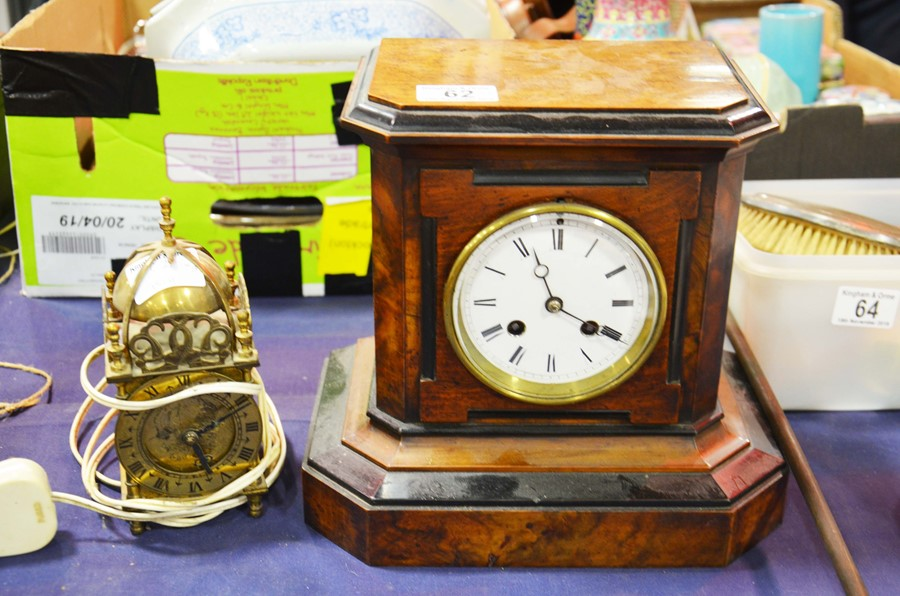 Lot 62 - A 19th century Enfield mantelpiece clock, together