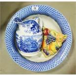 A group of ceramics including a Sylvac wall pocket