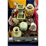 A group of assorted ceramics including glazed Orie