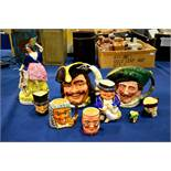 A group of Staffordshire and Royal Doulton charact