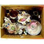 A group of ceramics, including Aynsley, Sunderland