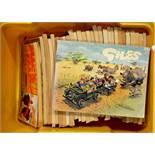 A selection of GIles newspaper cartoon books (25+)