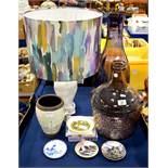 An assorted group of glass and ceramics including
