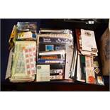 A selection of British stamps including First Day covers