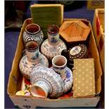 An assorted group of ceramics and treen, including