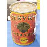 A Service motor grease tin container