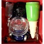 A group of assorted ceramics and glassware includi