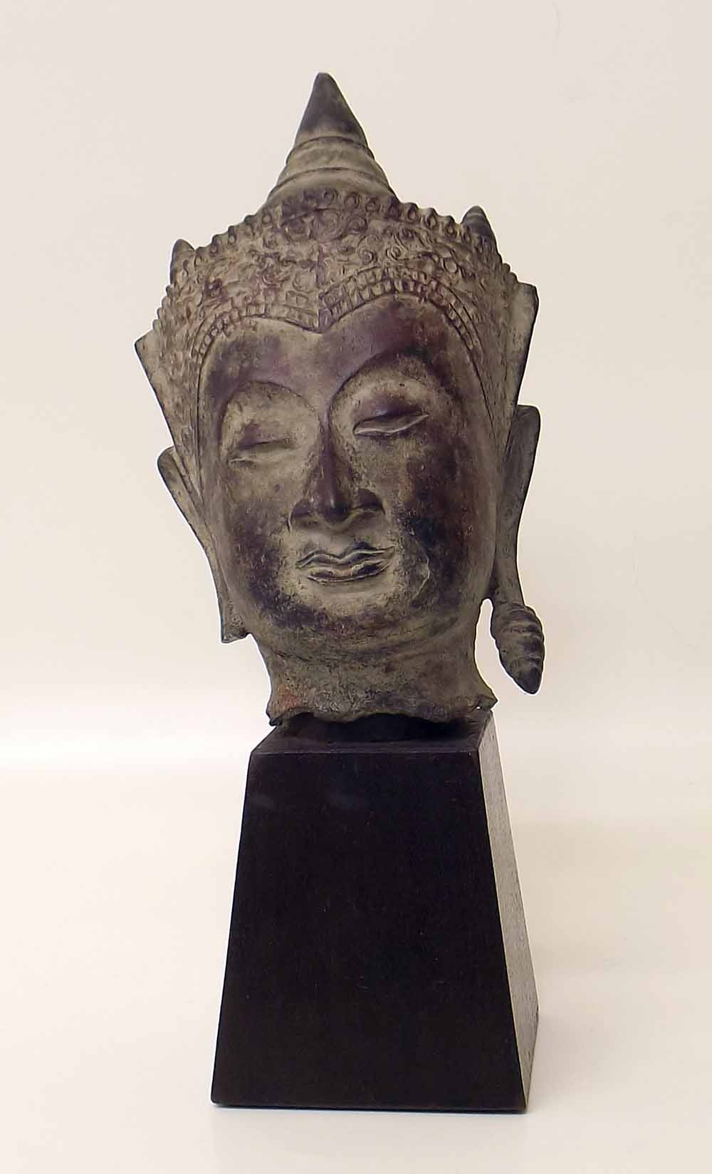 Lot 127 - Bronze Buddha head, Cambodian VAT is only payable on the Buyer's Premium for this lot. Condition