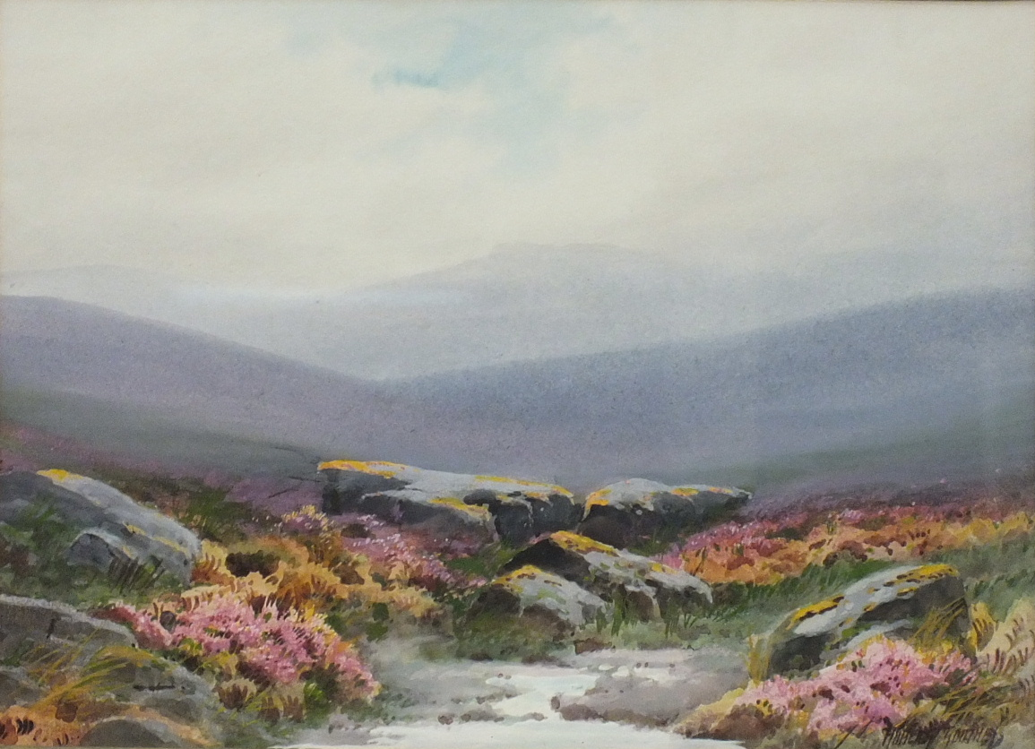 Rubens Southey MOORLAND STREAM Signed watercolour, 26 x 35.5cm.