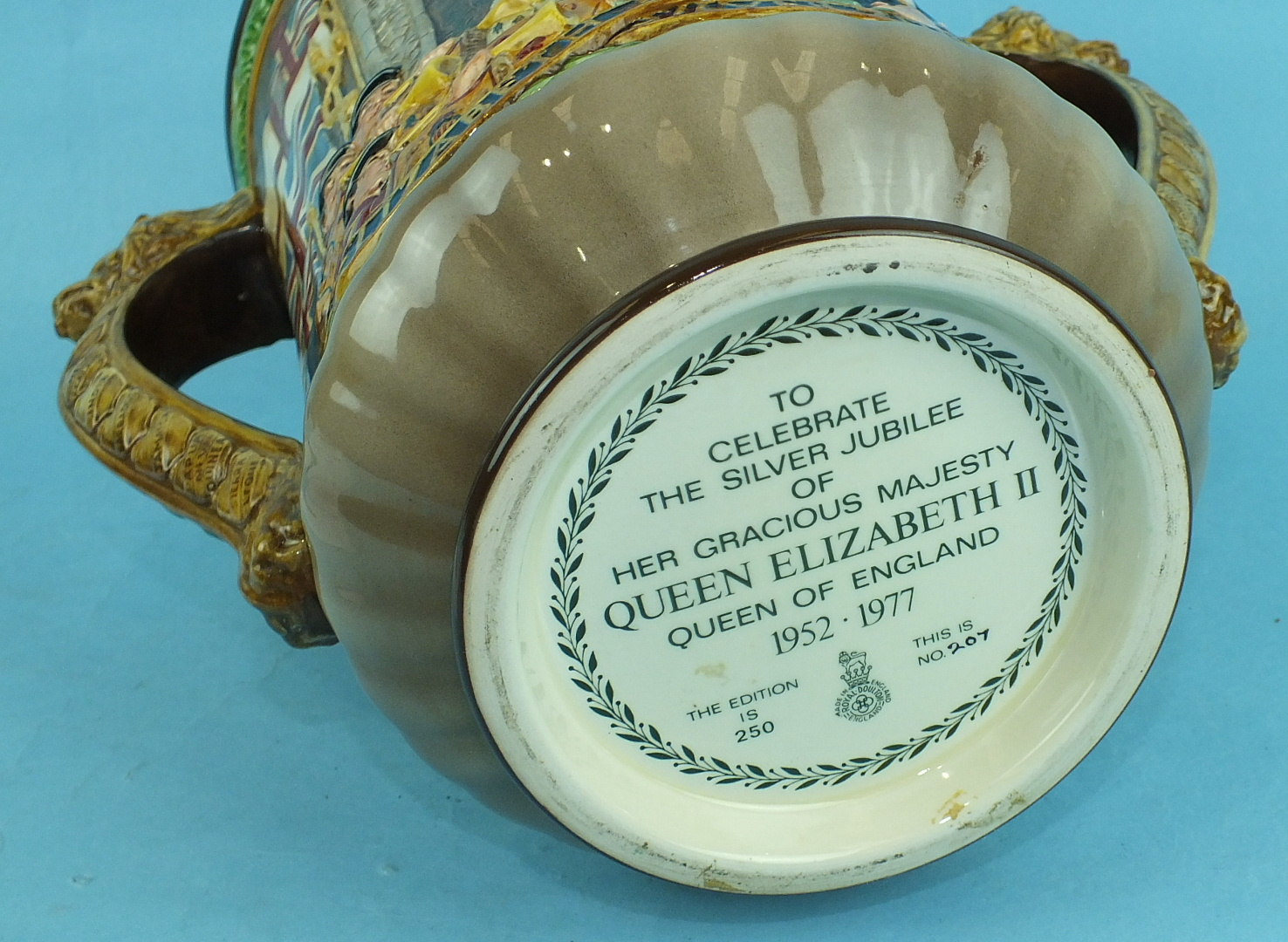 A Royal Doulton limited edition loving cup. - Image 2 of 2