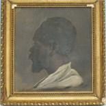 Thomas Mervyn Bouchier Marshall (Attrib.) PORTRAIT STUDY OF A BEARDED AFRICAN FIGURE Unsigned oil on