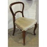 A set of six Victorian rosewood balloon-back dining chairs and two later Edwardian dining chairs, (