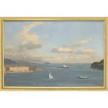 John Webster FRIGATE ENTERING PLYMOUTH SOUND Signed oil on board, 29 x 45cm, another, RIVER TAVY, 14