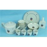A late-18th century armorial porcelain tea service decorated with the arms of the Garland Family