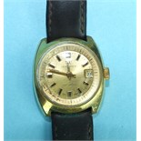 A ladies Watches of Switzerland Seafarer automatic wrist watch, the round gold face with baton