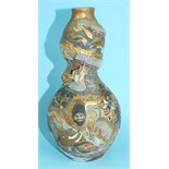 A 19th century Japanese Satsuma double-gourd-shaped vase decorated with Immortals and other figures,