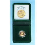 A Royal Mint 1980 proof sovereign, in case.