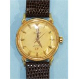 Omega, an unusual 18ct gold Omega Seamaster XVI gentleman's automatic wrist watch to commemorate the