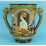 A Royal Doulton limited edition loving cup.