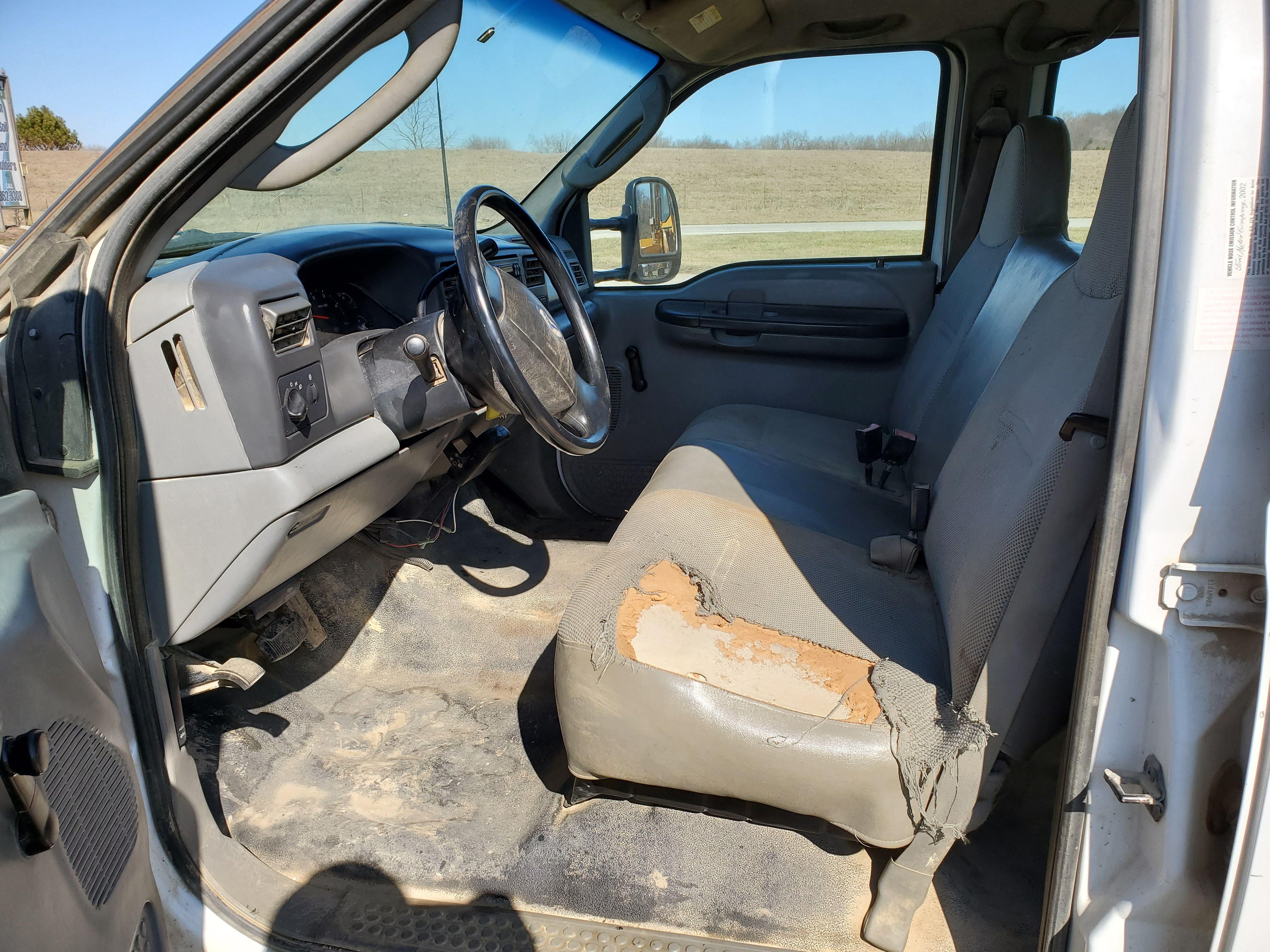 2003 F550 Ford Super Duty Pickup, Automatic, 7.3 Power Stroke Diesel, 8' Foot Omaha Flatbed - Image 11 of 18