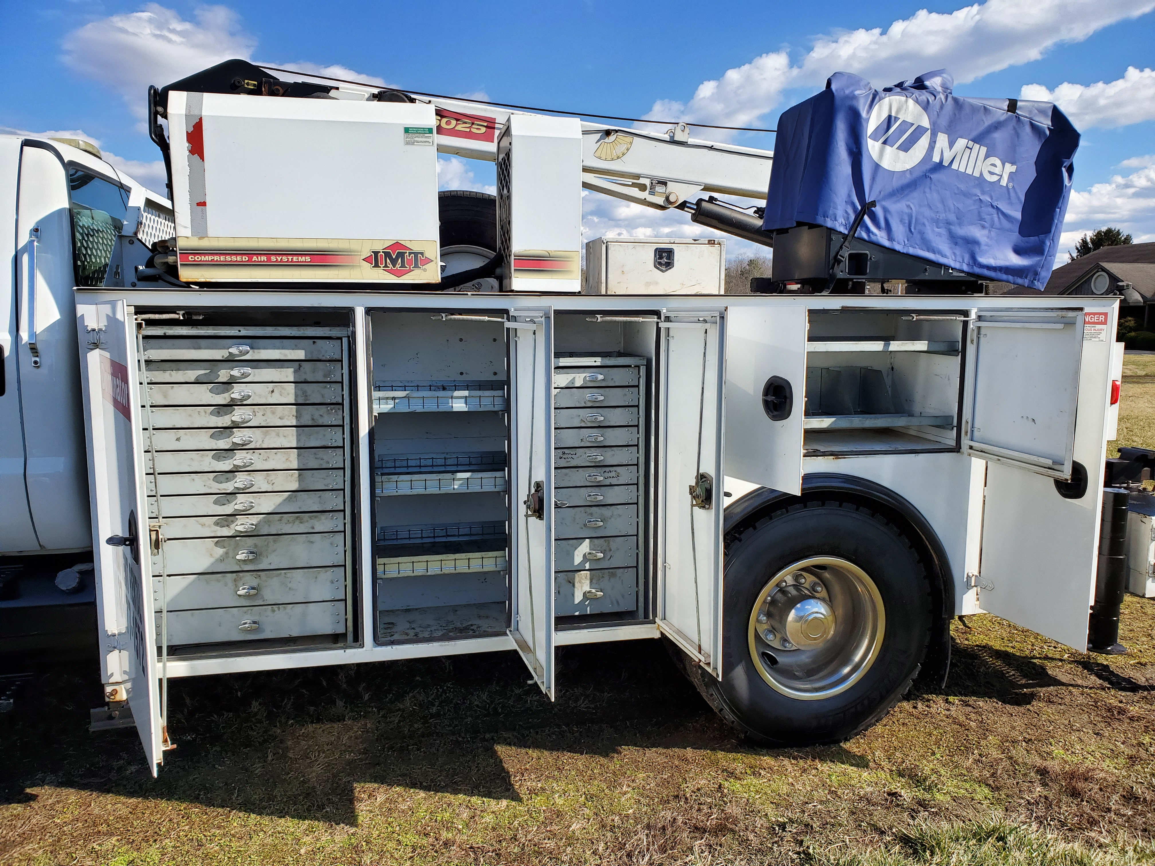 2007 Ford F750 Mechanic's Crane Truck, Cat C7 ACERT Diesel, Auto, 13 ft. IMF Dominator Body - Image 14 of 33